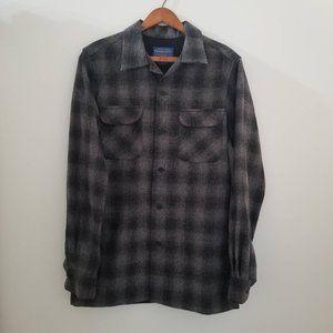 Pendleton wool Grey Tartan Shirt XS